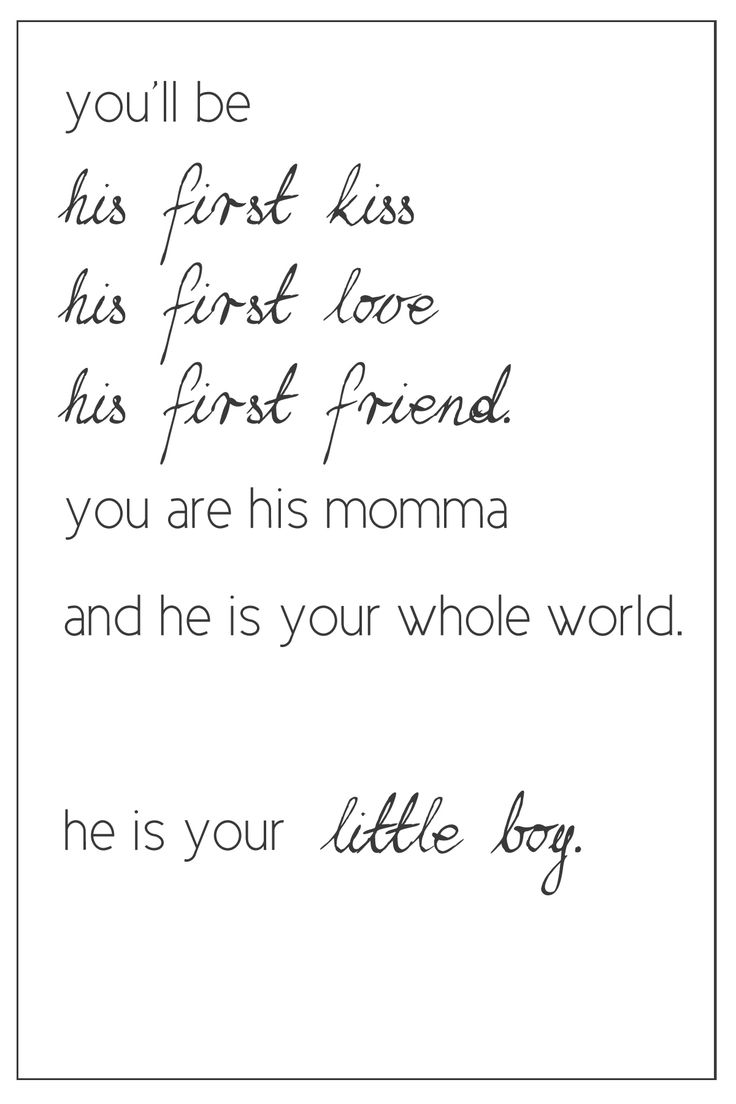 Mother Quotes : Love being a BOY mom! • Magazine Moms ...