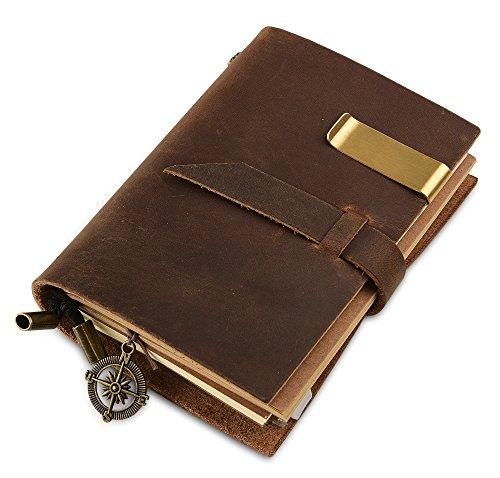 Journal de voyage en cuir