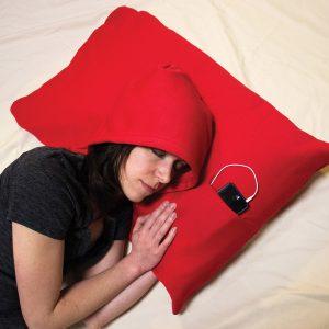 Taie d'oreiller à capuche